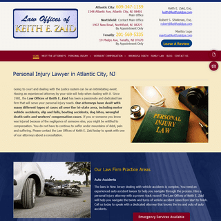 Personal Injury Lawyer Atlantic City NJ - Law Offices of Keith E Zaid