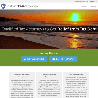 ArchiveBay.com - instanttaxattorney.com - Instant Tax Attorney - Providing Relief from Your IRS Tax Debt