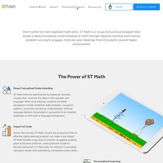 Visual Math Program - Math Learning Games - ST Math