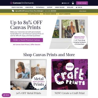 Canvas Prints - Photos to Canvas Prints - Canvas On Demand®