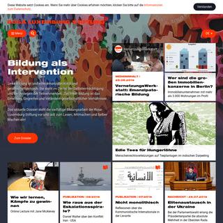 Rosa-Luxemburg-Stiftung - Startseite