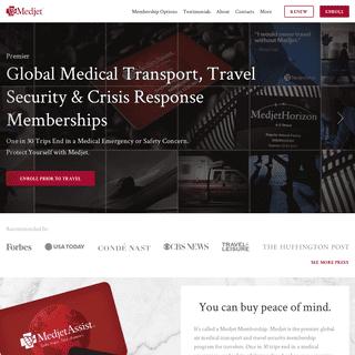 Premier Air Medical Transport and Travel Protection - Medjet