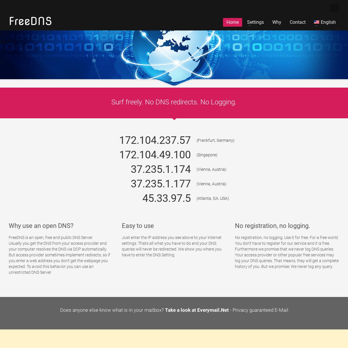 FreeDNS - your Open DNS
