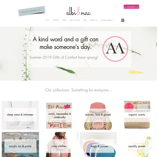 ArchiveBay.com - albiandmac.co.uk - Gifts of comfort. Show someone you're thinking of them