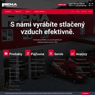 Kompresory PEMA - prodej, půjčovna a servis kompresorů