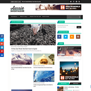 Homepage - Aussie Backpacker - Backpacking in Australia & Around The World - Adventure Travel - JobsAussie Backpacker – Backpa