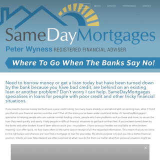 Need to borrow money but have been turned down by the bank-