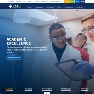 EMU - A private liberal arts university in Harrisonburg, VA