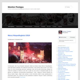 Monitor Postępu - Centrum monitorowania odradzającego się faszyzmu i rasizmu wobec białych.