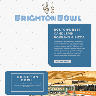 Flatbread Brighton- Pizza & Bowling - Candlepin Bowling Boston