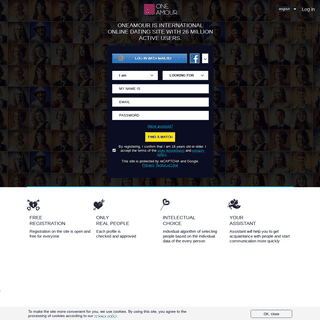 oneamour is international online dating site with 26 million active users.- OneAmour