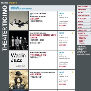 Theater Ticino - Liste