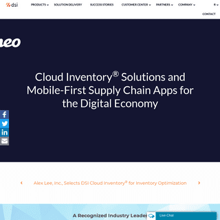 Cloud Inventory Solutions & Mobile-First Supply Chain Apps — DSI
