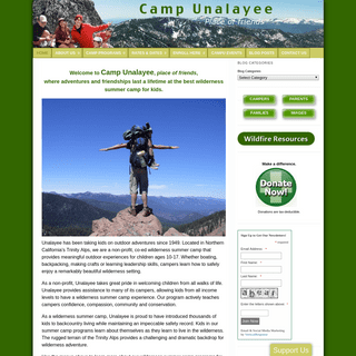A Summer Camp for kids in the Trinity Alps Wilderness Area of Northern California