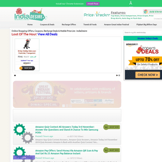 Online Shopping Offers, Coupons, Recharge Deals & Mobile Price List - IndiaDesire