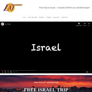 Free Israel Trip - Los Angeles - Bay Area - LAJ