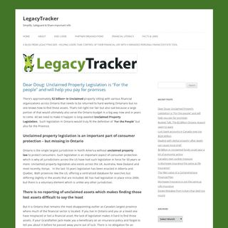 LegacyTracker - Simplify, Safeguard & Share important info
