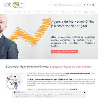 Agencia de Marketing Online Zaragoza. SocieTIC Business Online