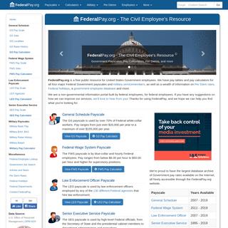 FederalPay.org - The Civil Employee's Resource