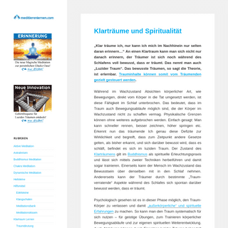 MeditierenLernen.com – Meditationsanleitungen und Übungen