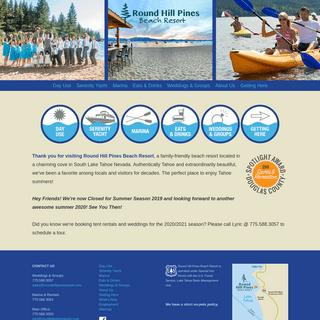 Home - Round Hill Pines Beach Resort - South Lake Tahoe