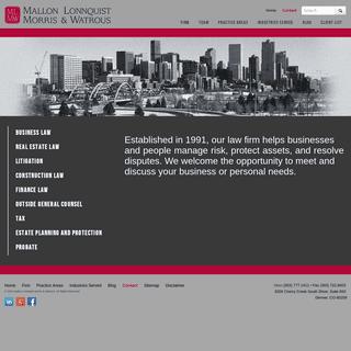 ArchiveBay.com - mallon-lonnquist.com - Denver Business Lawyers - Mallon Lonnquist Morris & Watrous
