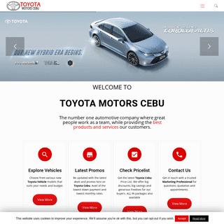 Toyota Motors Cebu - Trusted Toyota Car Dealer in the Visayas Region