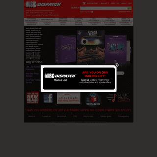 ArchiveBay.com - musicdispatch.com - Music Dispatch - Sheet Music, Songbooks, Guitar Tab, DVDs