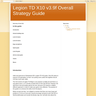 Legion TD X10 v3.9f Overall Strategy Guide