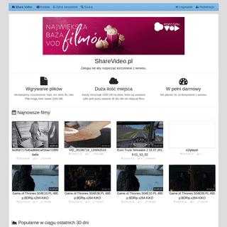 Share Video - hosting plików