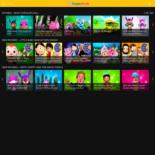 HappyKids.tv - Kids Rhymes, Stories, Activities and Learning
