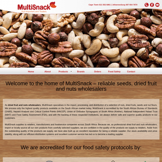 Reliable dried fruit and nuts wholesalers - MultiSnack