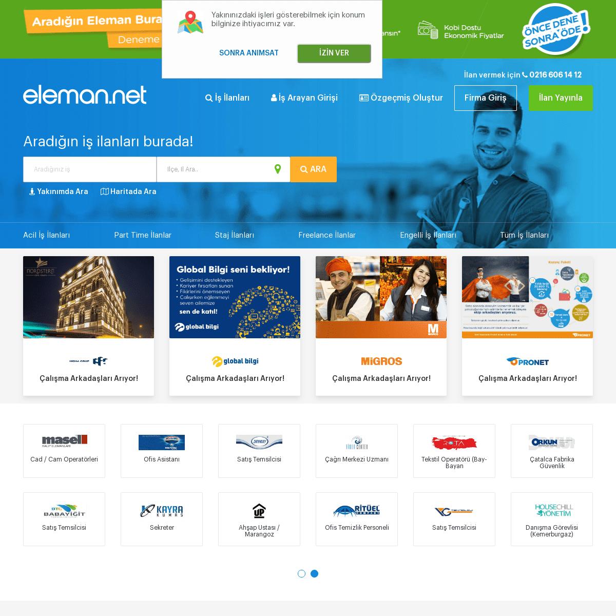 Eleman.net - İş İlanları ve Eleman İlanları Sitesi