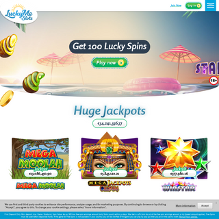 Play Online Slots & Casino Games - 100 Lucky Spins Welcome Bonus - LuckyMe Slots