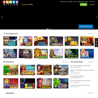 Play 2381 slots and other online casino games on SlotsMillion