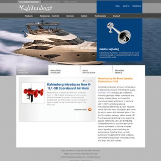 Marine Signaling - Industrial Signaling - Mass Notification - Kahlenberg