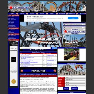 SFGAmWorld.com -- Everything Six Flags Great America!
