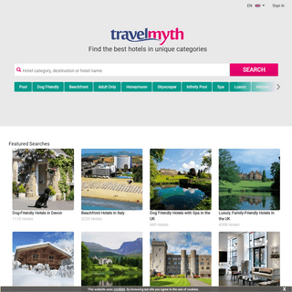 The hotel search engine for sophisticated travellers - Travelmyth