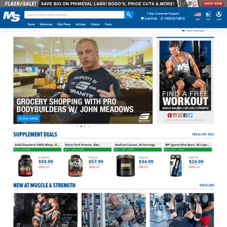 Muscle & Strength- Huge Fitness Site & Supplement Store