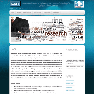 International Journal of Engineering and Innovative Technology(TM)