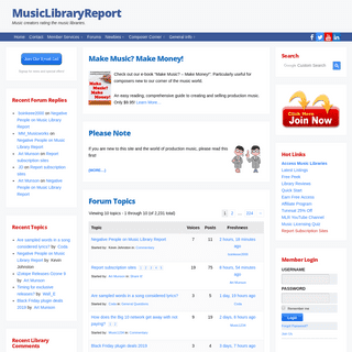 MusicLibraryReport - Music creators rating the music libraries.