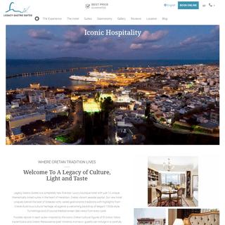 Legacy Gastro Suites - Iconic Hospitality in Heraklion, Crete, Greece