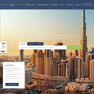 Dubai Estate Agents - Real Estate Brokers in Dubai - Allsopp & Allsopp