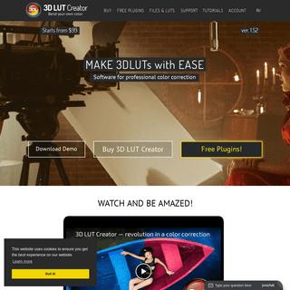 3D LUT Creator - official site