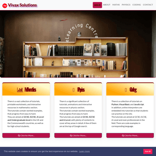 A complete learning zone for maths, physics, apps and web development - Vivax Solutions