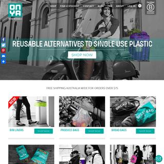 Reusable Bags, Coffee Cups & Sandwich Wraps Online Australia - Onya