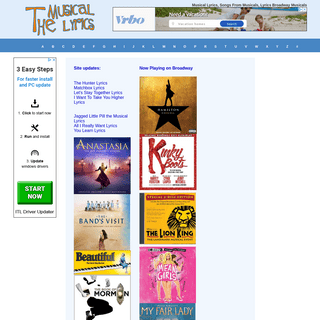 ArchiveBay.com - themusicallyrics.com - Musical Lyrics, Songs From Musicals, Lyrics Broadway Musicals