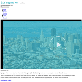 ArchiveBay.com - calstartuplawfirm.com - SPRINGMEYER LAW - Startup Lawyers - San Francisco - Bay Area Venture Capital Attorneys - Silicon Valley M&A Tech Law Firm
