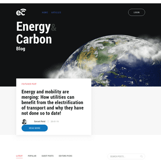 - Blogs about the latest in the energy world