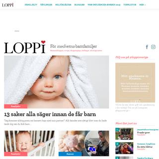 Mammabloggar, tävlingar, vardagsrecept och småbarnsliv - Loppi.se